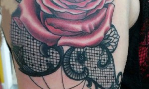 Tattoo rose, beautiful arm, stereo, small tattoo, rose, lace, tattoo picture