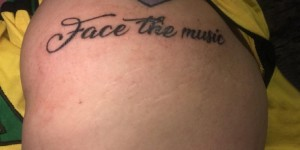 Tattoo English font male shoulders on black English font tattoo picture