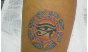 Egyptian Holly Eye Color Tattoo Pattern