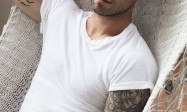 European and American men's arms handsome tattoo