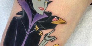 Disney theme of a group of cartoon small map tattoo