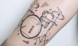 Musical instrument tattoo 9 guitar shelf drums and other musical instruments