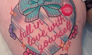 Heart shaped tattoo picture 8 fashion and interesting heart shaped tattoo pattern